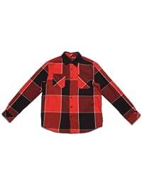 Ripcurl Bad Seed Flannel Ls Shirt Bright Red Men's Shirt