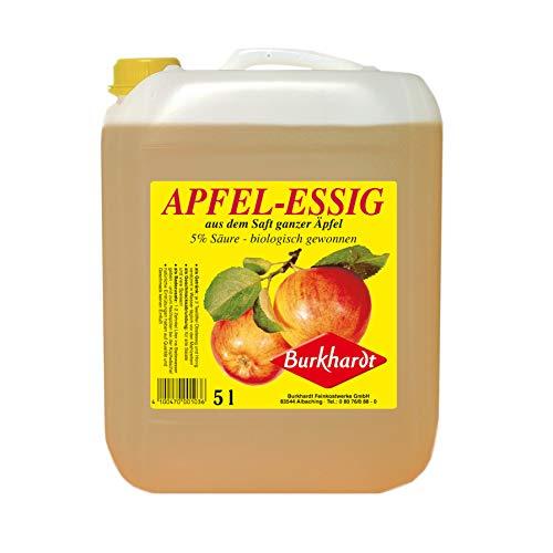Burkhardt Apfelessig 5% Säure 5Ltr. Kanister (Essig Apfel)