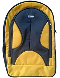 Adyyan Bags For Children In Lightweight & Spacious Yellow And Black Color School Bag (Set Of Two Pieces)