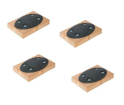 4 Stück - GedoTec Tischplatten-Verbinder Metall zum Anschrauben CONNECT einteilig | Arbeitsplatten-Verbinder Stahl pulverbeschichtet dunkelgrau | Möbelverbinder Bauhöhe: 9 mm | Tischverbinder zum Schrauben | Markenqualität für Ihren Wohnbereich