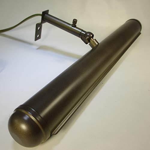 32cm Vintage Messing Bilderlampe Antik Stil Wandlampe Bronzefarben Bilderleuchte Gemäldelampe Regal Beleuchtung Schranklampe -