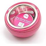comedero para perros DOME BOWL para perros y gatos - Comedero para animales Comedero Estaciones comedero - 450 ml Cantidad - medidas 17 x 17 x 12 cm - color: Rosa