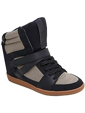 DC Shoes  Mirage Mid, Chaussons montants femme - Bleu - Bleu marine/gris, 10.0