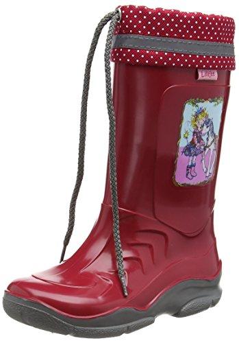 Prinzessin Lillifee 130079, Bottes en caoutchouc de hauteur moyenne, doublure froide fille Rouge - Rouge