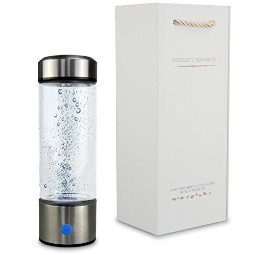 smardy blue H2 Pure Hydrogen Trinkflasche (hochdosiert 1100 – 1500 ppb) Wasserstoffreiches Wasser Booster, Elektrolyte, Anti Aging & Antioxidans - USA SPE Membrane