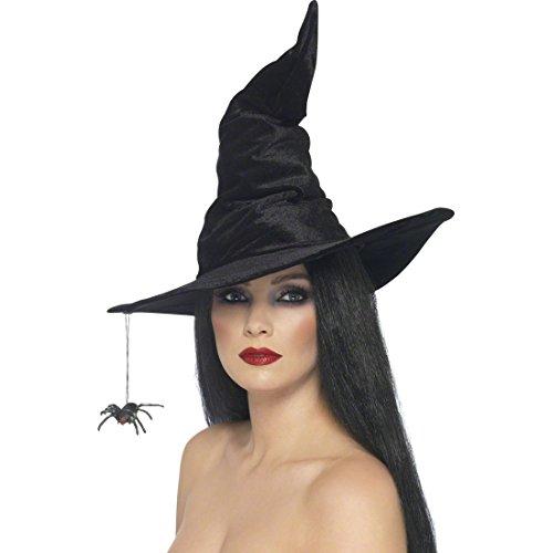 Halloween Hut Schwarz Hexen Hut Spinnenhut Hexen Accessoires Kostüm Zubehör Walpurgisnacht Halloweenhut Spitzhut Karnevalshut (Halloween-hexe-hüte)
