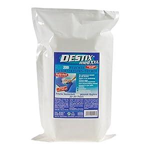 DESTIX Desinfektionstücher XXL im Nachfüllpack, 21×26 cm, 200 Stück