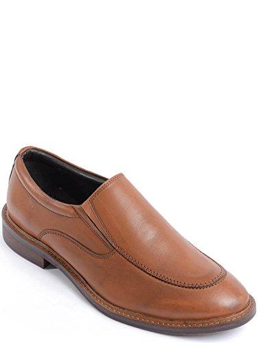 Slip En Cuir Luxe Hommes Sur Chaussure Marron