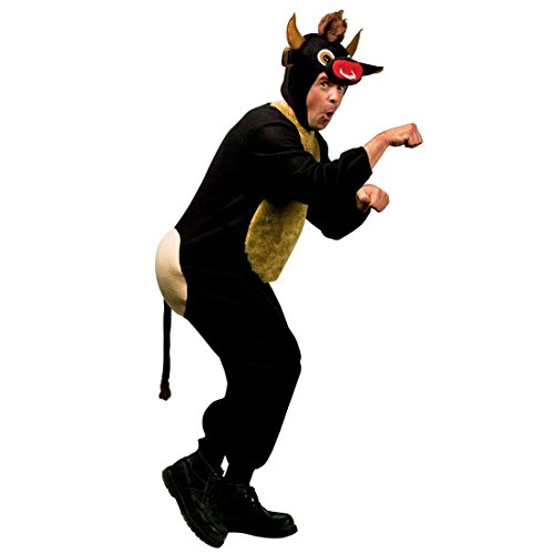 Amakando Witziges Kuh Kostüm Stier Herrenkostüm XL 54 Stierkostüm Bulle Fasching Kuhkostüm Herren JGA Party Junggesellenabschied Ochse Tierkostüm Karnevalskostüm Tier Mottoparty Verkleidung Karneval