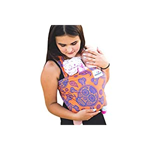 Baby Wrap Sling Bamboo Stretchy Wrap Carrier | UK/EU Safety Tested | Made in UK by Joy and Joe | Suitable from Birth to 16Kg | Premium Quality Baby | with Hat, Bag and Full Colour Instruction | Skull Fringe Home SIZE: 86 x 203cm. Standart size fits for every size mother and father. SAFETY CERTIFICATIONS: Our Ring Slings are compliant with Consumer Product Safety Improvement Act (CPSIA) and American Society for Testing and Materials (ASTM). BONDING & COMFORTABLE SLING: Creates a natural heartfelt bond between you and your little one. Comfortable posture position makes your little one easier to go sleep. Adjustable Ring Sling fits for every size mother and father. Elastic band sewn on shoulder and bottom end to ensure holding baby safer. 7
