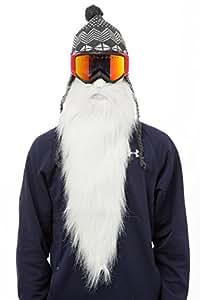 BEARDSKI Masque de ski Merlin - Longue barbe blanche