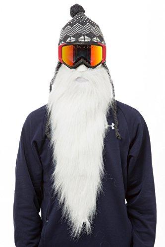 BEARDSKI - Máscara de esquí, diseño de larga barba blanca