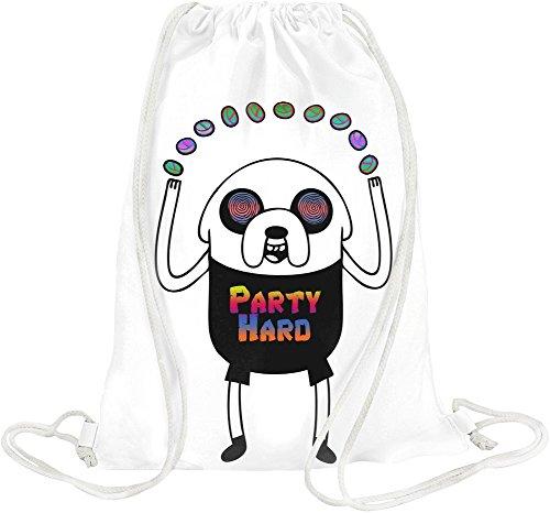 Party Hard Drawstring bag