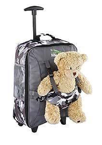 Cabin Max Bear, trolley da viaggio per bambini, con cinghie esterne per bambole/peluche (Camo Pants)