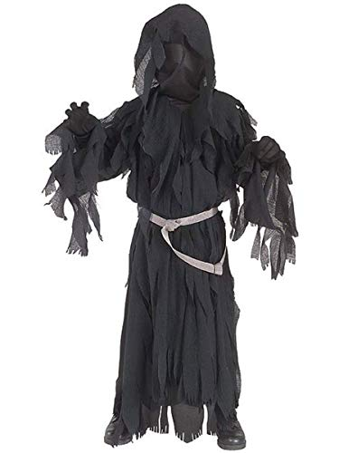 Herr der Ringe: Nazgul Ringwraith Kostüm Kinder schwarz, Größe: M - 128 cm (Herr Der Ringe Orks Kostüm)