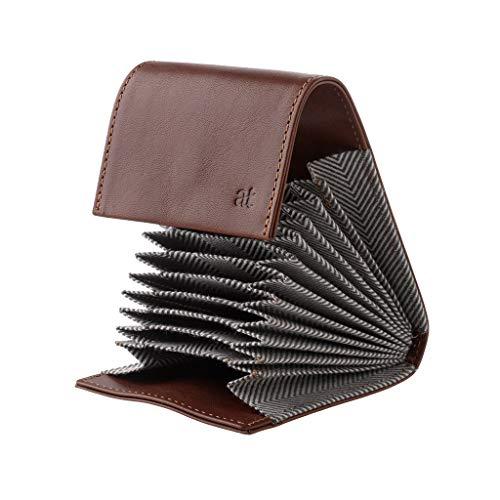 431b70911c Antica Toscana Porta carte di credito in Vera Pelle a Soffietto Fisarmonica  con 11 scomparti e