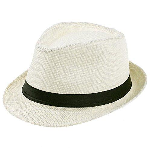 HCIUUI Women and Men Summer Floppy Straw Sun Hats Panama Beach Hats for Women Tea Party Vogue Classic Black Girdle Kids Sun caps