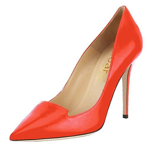 Guoar - Scarpe chiuse Donna Arancione (arancione)
