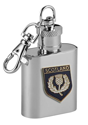 Preisvergleich Produktbild Schottland Flachmann-Schlüsselanhänger, 30ml