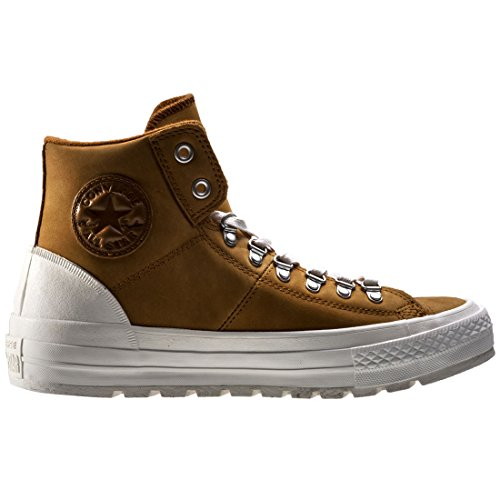 AS Salut cuir Converse Chucks 139820C Hiker2 Lea Pomme Brown Prime Chuck Antiqued/Egret/Ash Gray