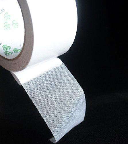 FiveSeasonStuff ® doppelseitiges Gewebeband ist sehr stark und klebrig, für Teppich-Edge-Finishes, Messe-und Bühnendekoration , Wandgestaltung, Metall Einige ojekte, Teppich-Dekoration 45mm x 10m (Doppelseitig Gewebeband - weiß) TP15 (Doppelseitiges Gewebeband - Weiß)
