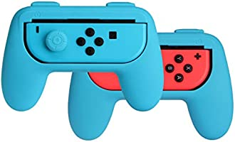 AmazonBasics Grip Kit voor Nintendo Switch Joy-Con-controllers - blauw