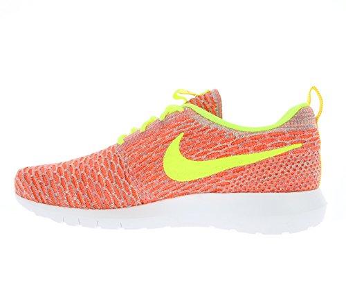 Nike Flyknit Rosherun Chaud Lave / Volt - Tm Chaud Lava / Volt-team Orange-vapor Vert