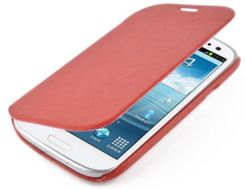 JAMMYLIZARD   Luxuriös Flip Ledertasche Hülle für iPhone 5 / 5s und iPhone SE, Rotbraun ROTBRAUN