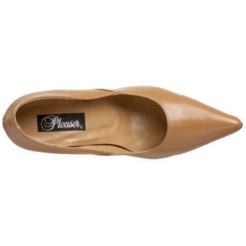 Pleaser mil01/YL 4 Femmes Beige (Camel Leather)