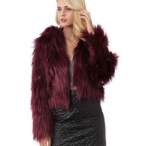 TUDUZ Damen Strickjacke Sweater Einfarbig Kunstpelz Mantel Bekleidung Frauen Jacke Herbst Winter Parka Outerwear