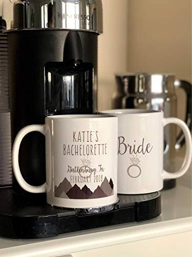 Bachelorette Partybecher Bachelorette Party Favors Bachelorette Party Ideas Personalisierte Keramik Kaffeetasse Skifahren Bachelorette (Bachelorette Party Favor Ideen)