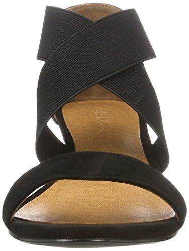 Compensées Zeppa Con Elastica Nero Bianco Sandalo Piccola E Sandales nero Femme 0CgxHxUn