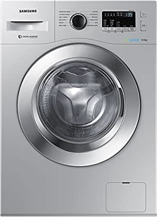 Samsung 6.5 kg Fully-Automatic Front Loading Washing Machine (WW65M224K0S/TL, Silver)