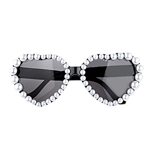 Shade Glasses - Novelty Heart Glasses Fancy Dress Costume Party Pearl Sunglasses Shades Hen Girl Night Out Access - Shade Baby Shades Dresses Women Designer Glasses Sunglasses Kids