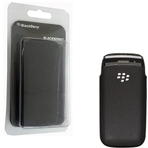 100% GENUINE BLACKBERRY HDW-29891-001 LEATHER POCKET POUCH CASE FOR BLACKBERRY PEARL 9100/9105 BLACK BY MOBILENEEDS