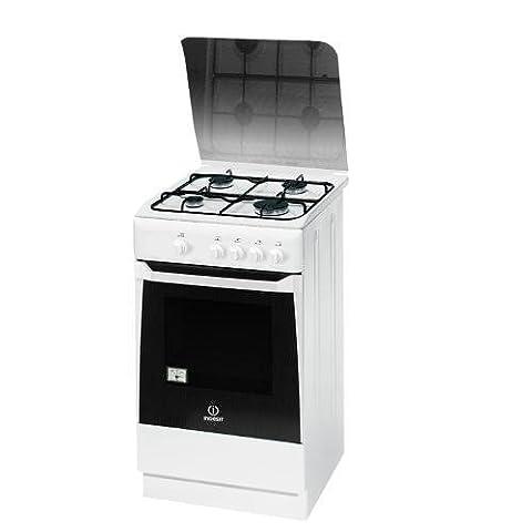 Indesit KN1G20S(W)/I Autonome Cuisinière à gaz four et cuisinière - fours et cuisinières (Autonome, Rotatif, Devant, Cuisinière à gaz, acier émaillé, Gaz naturel)