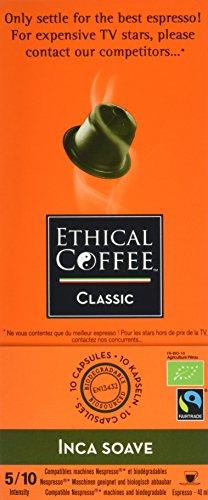 Espresso Ethical Coffee Company 10 Inca Suave Kapseln Fairtrade für Nespresso-Maschinen, 5er Pack (5 x 50 g)