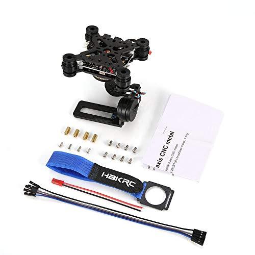 Yao gimroboscopio a 3 assi hakrc brushless con pannello di controllo per drone gopro3 / 4 dji phantom