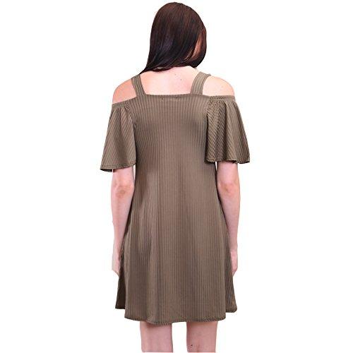 7 Fashion Road Damen A-Linie Kleid Khaki