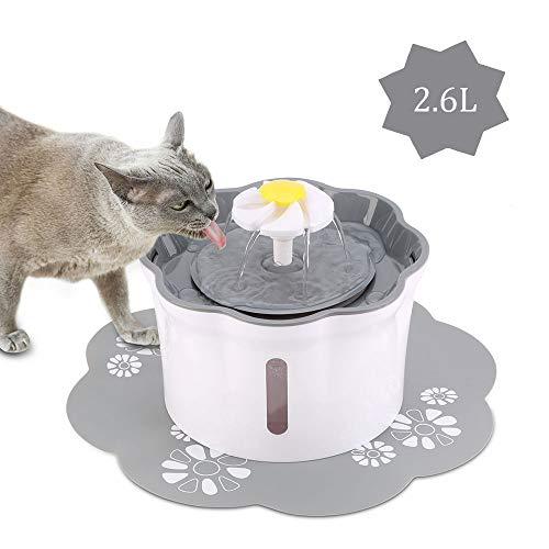 KOOPAO Pet Cat Dispensador de Fuente de Agua
