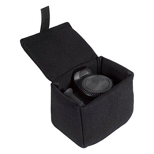 DSLR Kameratasche Einsatz Gepolsterte Stoßfest Faltbare Kameratasche Wasserdichte Shockproof DSLR Spiegelreflex Camera Bag Schutztasche Kamera Tasche Zubehör Schwarz, Rot, Orange, Blau(Black)
