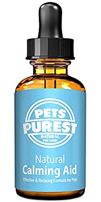 Pets Purest 100% Natural Calming Aid Supplement for Dogs Cats Horses Rabbits Rodents Birds Pets | Reduces Anxiety & Stress | Separation Anxiety, Aggression, Loud Noises, Fireworks & Kennels (50ml) from Pets Purest