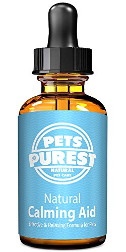 Pets Purest 100% Natural Calming Aid Supplement for Dogs Cats Horses Rabbits Rodents Birds Pets | Reduces Anxiety & Stress | Separation Anxiety, Aggression, Loud Noises, Fireworks & Kennels (50ml)
