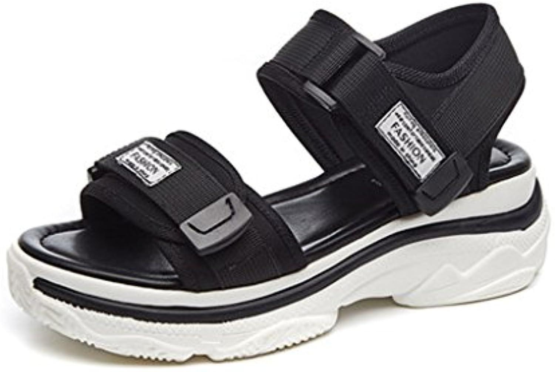 les sandales sandales sandales de mode yubin fond plat épais roFemme chaussures velcro sauvages étudiants (couleur: 37) b07f8jr9g8 parent   Online Shop  3a4a13
