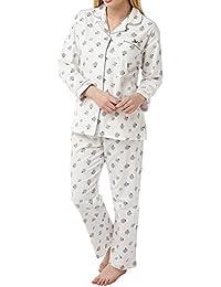 Indigo Sky Ladies 100% Cotton Dotty Sheep wincey Pyjama Size 10 14 18 bb6bab3da