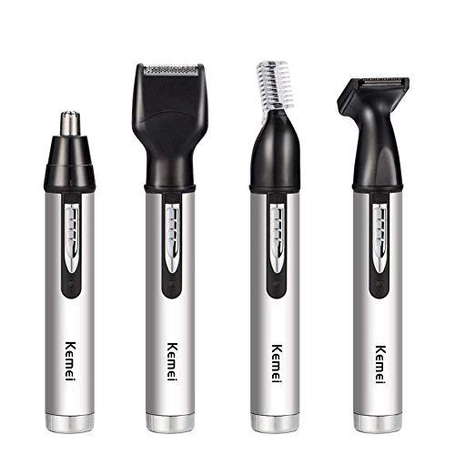 Cortadora de pelo nariz y orejas eléctrico trimmer nariz, Portable 4 en 1 Men Facial Care Tool para oreja y nariz pelos.