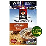 Quaker Oat So Simple Sweet Cinnamon 10 x 33g - Vollkorn Haferflocken mit Zimt