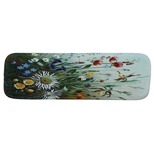 VORCOOL Treppenteppich Blumen Stufenmatte Anti Rutsch Waschbare Treppematte mit Klebeband Gummibeschichtung