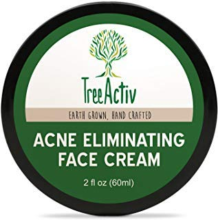 Treeactiv+ Treeactiv Acne Eliminating Face Cream Best Natural Extra Strength Fast Acting Treatment For Clearing Facial Acne Gentle Enough For Sensitive Skin,Adults,Teens,Men,Women Tea Tree 2 Fl Oz -