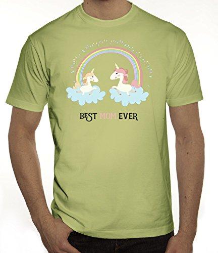 Einhorn Muttertag Herren T-Shirt mit Unicorn Best Mom Ever Motiv von ShirtStreet Limone